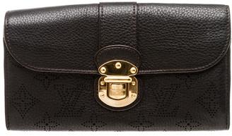 Louis Vuitton Black Mahina Leather Amelia Wallet