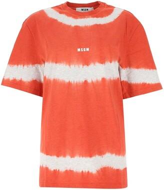 MSGM Logo Tie-Dye T-Shirt
