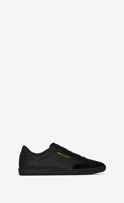 Saint Laurent Sl/10h Shoes Court Classic Sl/10 Sneakers In Perforated Leather And Suede Black 10