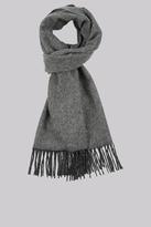 DKNY Charcoal Plain Wool Scarf