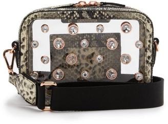 Sophia Webster Dina Crystal Python-effect Leather Camera Bag - Womens - Python