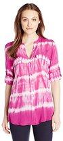 Calvin Klein Women's Tie-Dye Roll-Sleeve Top
