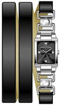 Mila Schon Women's MS.1028L/01 Black Dial Watch.