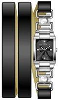 Mila Schon Women's MS.1028L/01 Black Dial Watch.