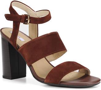 Geox Suede Block-Heel Dress Sandals