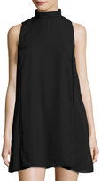 Lucca Couture Crepe High-Neck Shift Dress