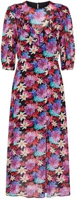 Pinko Floral Long-Sleeved Maxi Dress