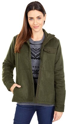 Fjallraven Canada Wool Padded Jacket (Deep Forest) Women's Clothing