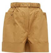 BEIGE Symonds Pearmain - Belted Waxed-cotton Shorts - Womens