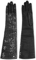 Rick Owens Sequined leather gloves
