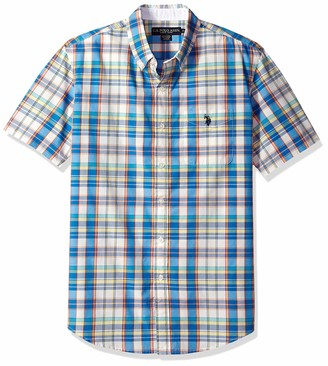 U.S. Polo Assn. Men's Short Sleeve Classic Fit Plaid Sport Shirt
