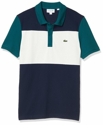 Lacoste Men's Short Sleeve Slim Fit Color Block Polo Shirt