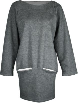 Format DEAR Dark Grey Sweat Dress - XS - Grey/Natural