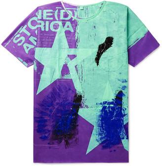Raf Simons Hand-Painted Woven T-Shirt