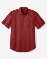Eddie Bauer Men's Relaxed Fit Signature Twill Shirt - Solid Short Sleeve