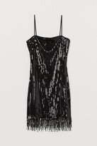 H&M Sequined dress with fringes