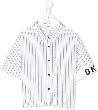 DKNY Striped Relaxed-Fit Shirt