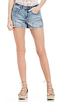 William Rast Destructed Patchwork Cutoff Denim Shorts
