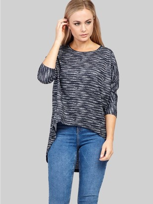 M&Co Izabel knitted high low top