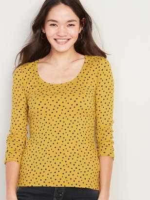 Old Navy Slim-Fit Rib-Knit Printed Tee for Women