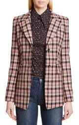 Michael Kors Collection Two-Button Plaid Blazer