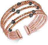 INC International Concepts Two-Tone Colored Pavé Ball Cuff Bracelet, Created for Macy's