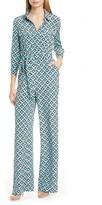 Diane von Furstenberg Sandy Print Silk Jumpsuit