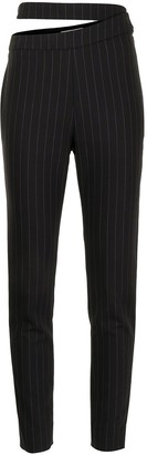 Balenciaga Pre-Owned Cut-Out Detailing Pinstriped Trousers