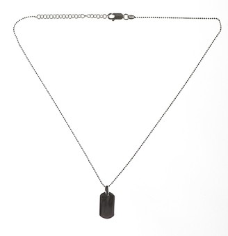 Accento Silver 14 Inches Ball Chain and Single Dogtag with 2 Inches Extender