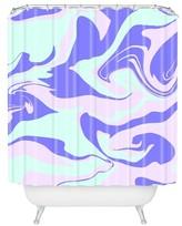 "DENY Designs Hypnotic Camo Shower Curtain Purple (71"" x 74"