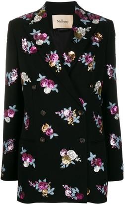 Mulberry Cara embellished blazer