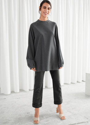 And other stories Voluminous Faded Wash Top