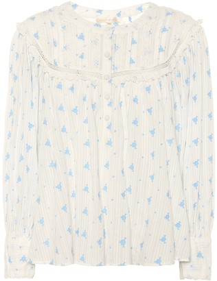 LoveShackFancy Exclusive to Mytheresa Dionne floral cotton blouse