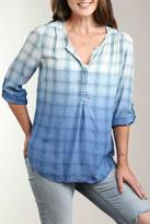 Casual Studio Dip Dye Plaid Blouse