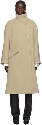 Acne Studios Beige Osandra Boiled Wool Coat