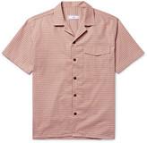 Ami Camp-Collar Checked Cotton Shirt