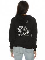 Peace Love World I am Chaos Zip Hoodie