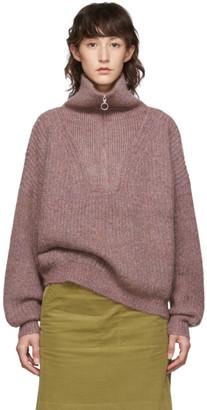 Etoile Isabel Marant Pink Myclan Knit Fluffy Turtleneck
