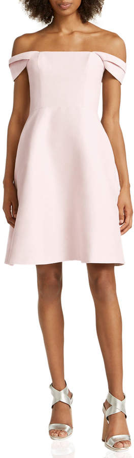 f6d18a0db316 Halston Heritage Pleated Cocktail Dress - ShopStyle