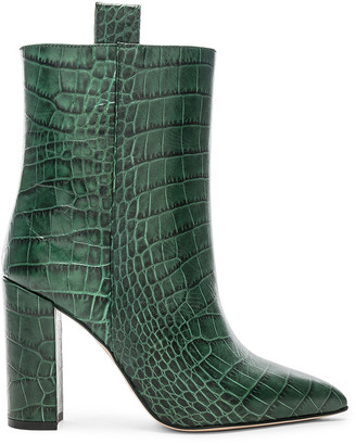 Paris Texas Croco Ankle Boot in Green | FWRD