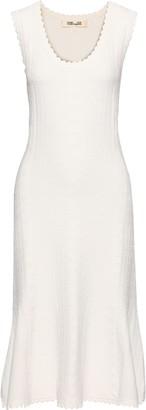 Diane von Furstenberg Flared Textured Knitted Dress