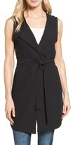 Women's Halogen Drape Front Long Vest