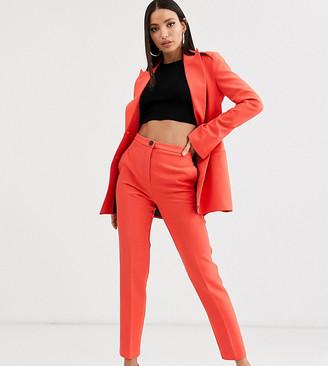 Asos Tall DESIGN Tall pop slim suit pants-Red