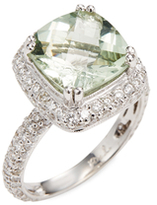 Rina Limor Fine Jewelry Green Amethyst Diamond Ring