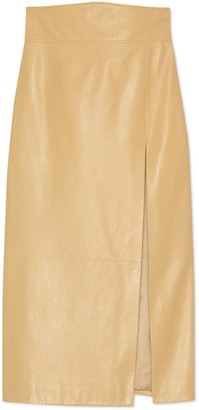 Gucci Leather skirt with slit
