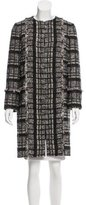 Proenza Schouler Tweed Suede-Trimmed Coat