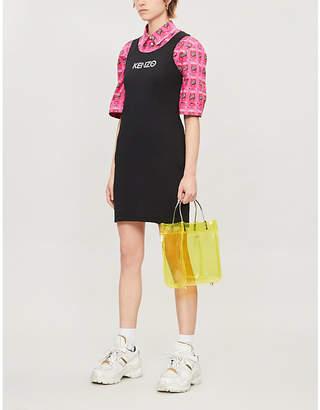 Kenzo Branded sleeveless stretch-cotton dress