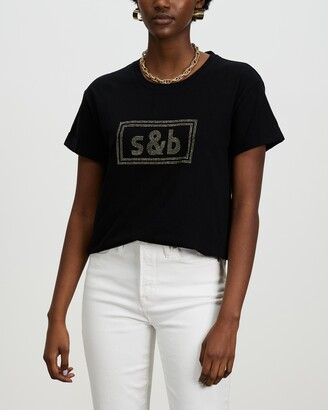 Sass & Bide Women's Black T-Shirts - The New Brave Tee - Size XXS at The Iconic