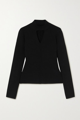 Proenza Schouler White Label Cutout Knitted Turtleneck Sweater - Black
