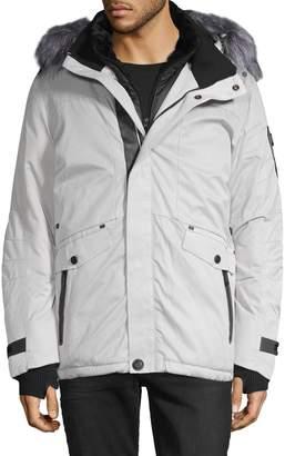 Point Zero By Maurice Benisti Faux Fur-Trim Hooded Jacket